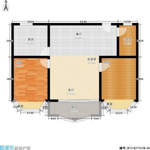 秋实小区2室0厅1卫1厨108.00㎡户型图