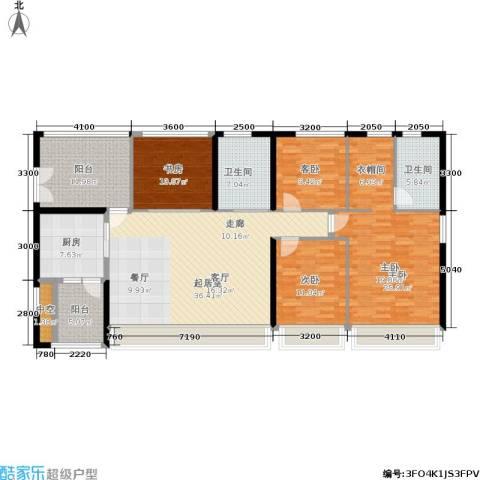 城中四季4室0厅2卫1厨152.00㎡户型图