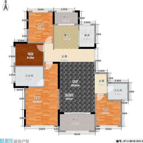 湘水郡4室0厅2卫1厨159.00㎡户型图