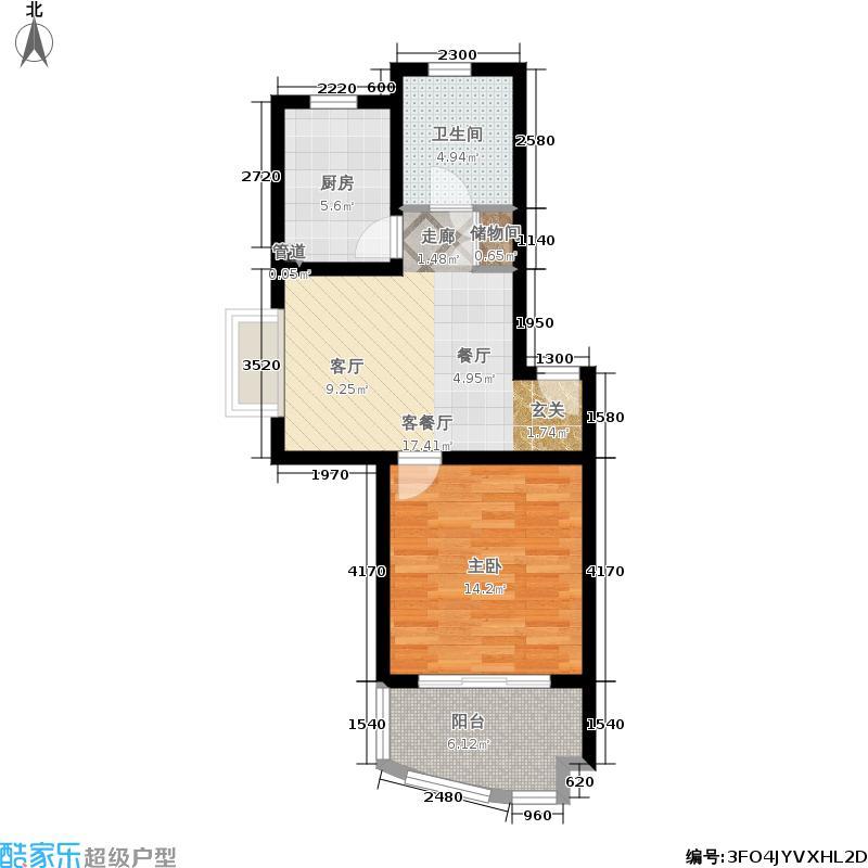 嘉骏花苑57.00㎡1面积5700m户型