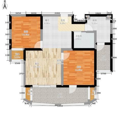 维多利华庭2室0厅1卫1厨108.00㎡户型图