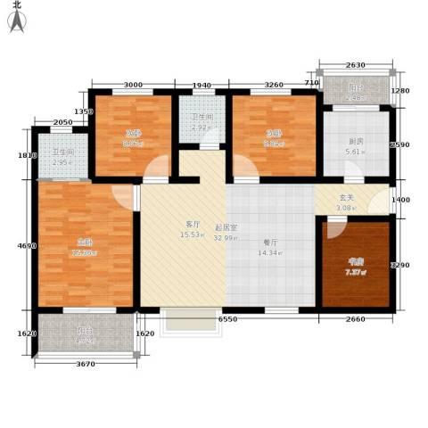 嘉园蓝湖九郡4室0厅2卫1厨112.00㎡户型图