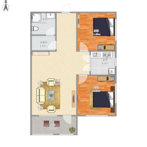 舜玉花园2室1厅1卫1厨101.00㎡户型图