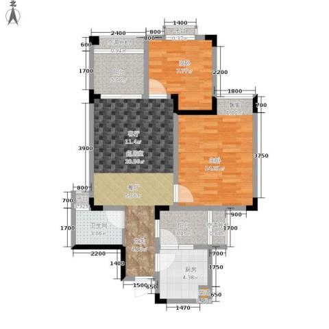 香缇卡纳2室0厅1卫1厨73.00㎡户型图