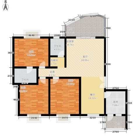 阳光花园3室0厅2卫1厨142.00㎡户型图