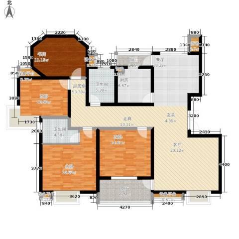 正阳世纪星城4室0厅2卫1厨156.00㎡户型图