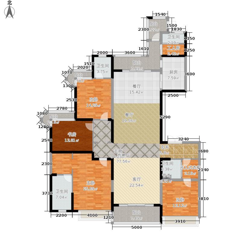 雅居乐御宾府254.00㎡5号楼D户型4室3厅