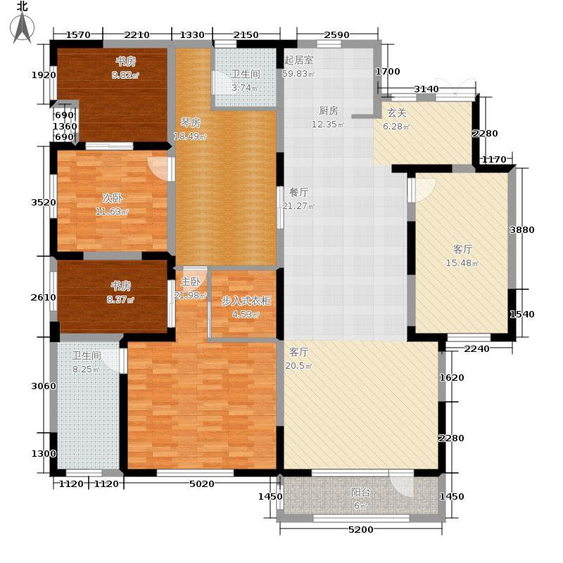 国耀紫溪观邸220.00㎡宽境逸墅 改造户型3室3厅2卫