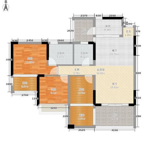 路福江韵华府2室0厅2卫1厨136.00㎡户型图