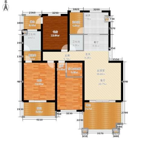 锦绣澜湾3室0厅2卫1厨188.00㎡户型图