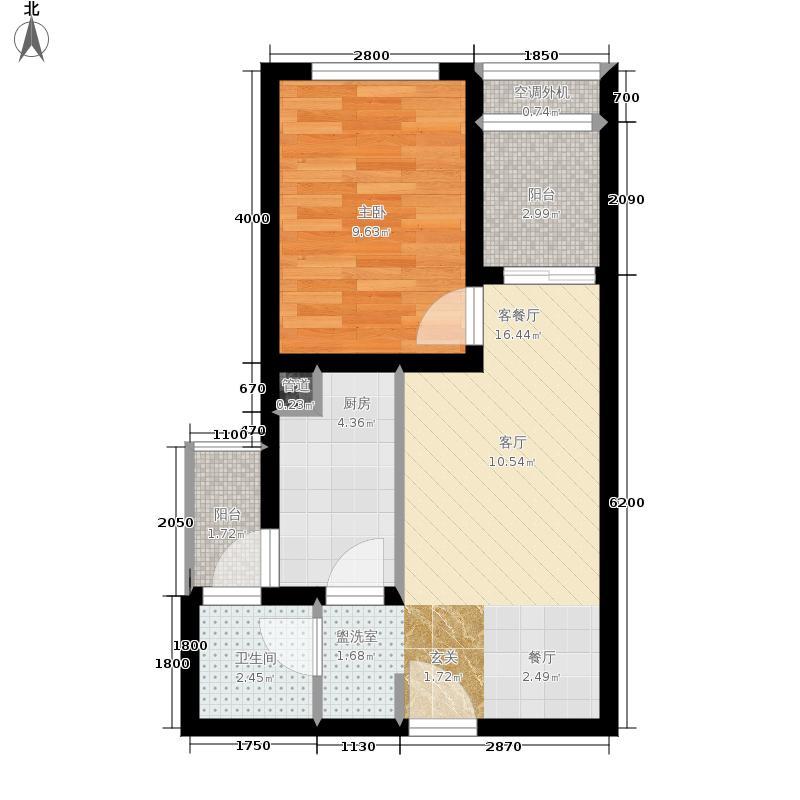 龙湖U城天街40.00㎡二期1号楼标准层F户型