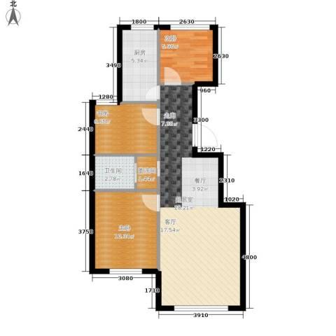 幸福小镇3室0厅1卫1厨87.00㎡户型图