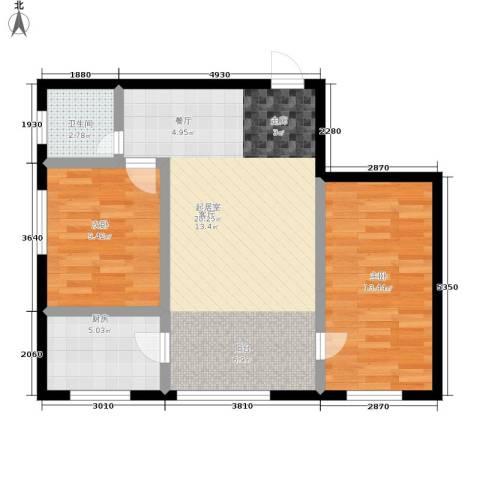 幸福小镇2室0厅1卫1厨82.00㎡户型图