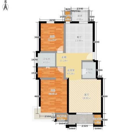 天房天和园2室0厅2卫1厨113.00㎡户型图