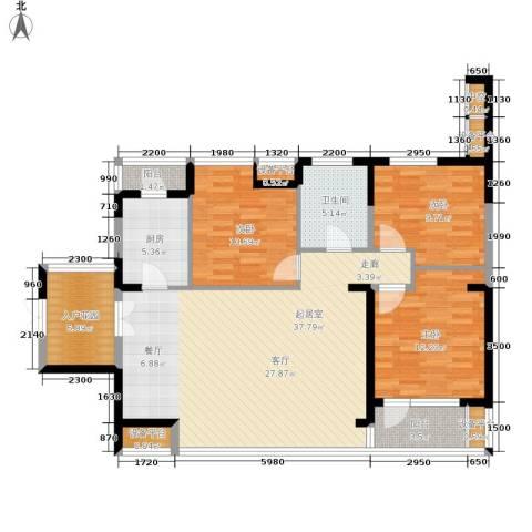 永泰枕流GOLF公寓3室0厅1卫1厨117.00㎡户型图