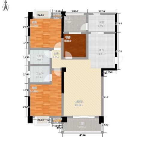 阳光花园3室0厅2卫1厨115.00㎡户型图