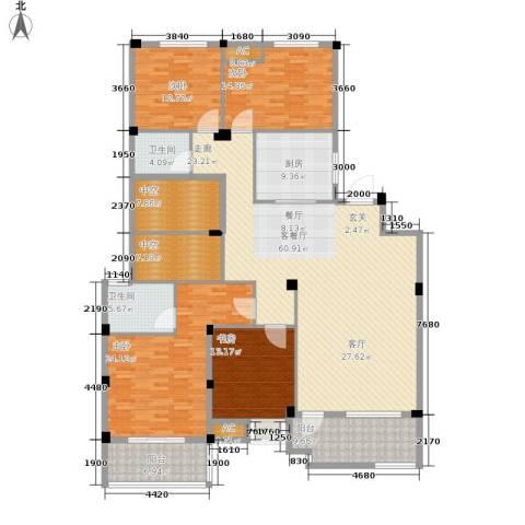 星河世纪城4室1厅2卫1厨198.00㎡户型图