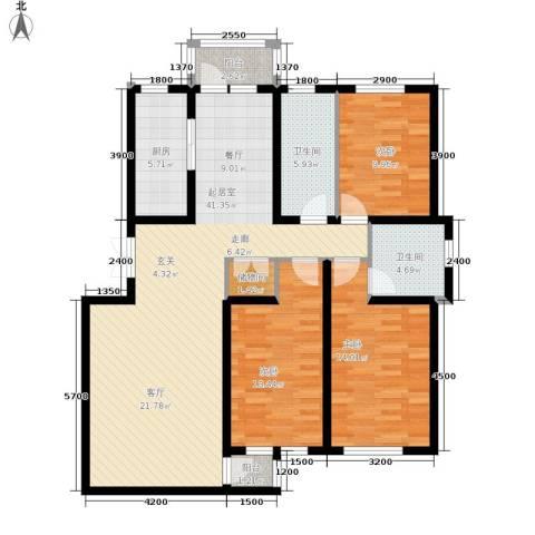 棕榈泉国际花园别墅3室0厅2卫1厨395.00㎡户型图
