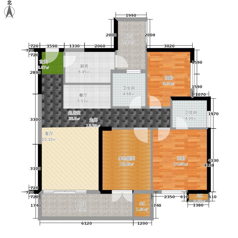 彩虹城112.00㎡2#楼3-4户型