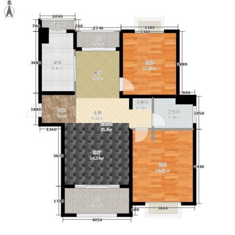 仁和都市花园2室0厅1卫1厨87.00㎡户型图