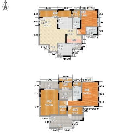 廊桥水岸2室0厅3卫1厨163.21㎡户型图