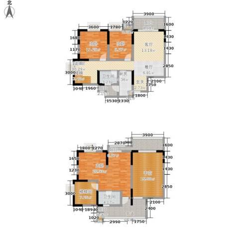 廊桥水岸3室0厅2卫1厨146.00㎡户型图