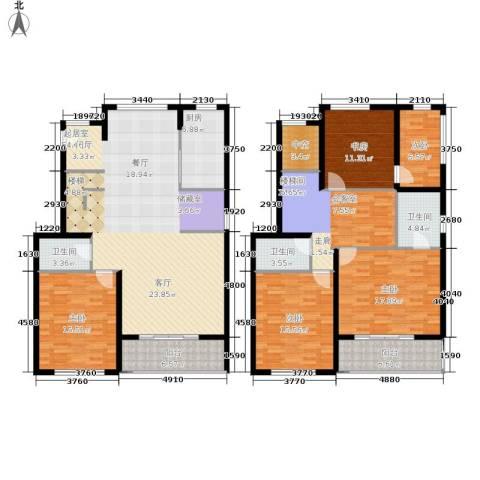 众众德尚世嘉5室0厅3卫1厨192.02㎡户型图