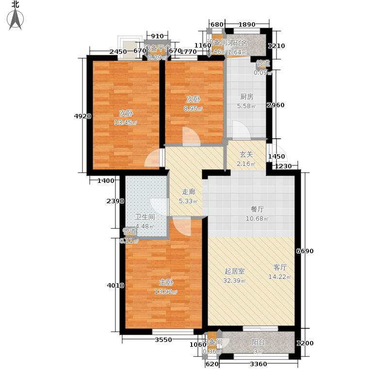 阿尔法社区105.00㎡二期3-2四层面积10500m户型