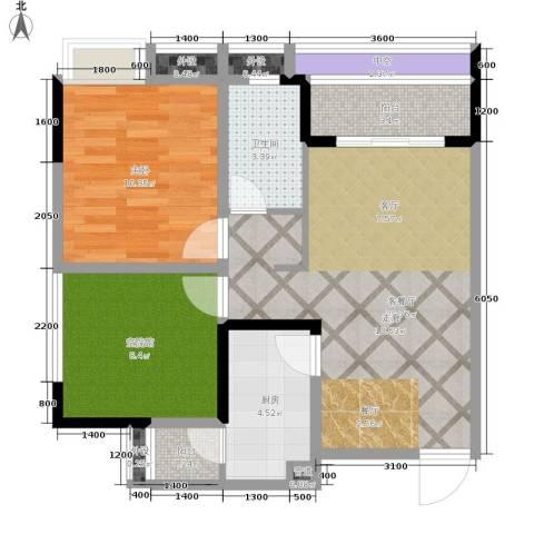 海德格调1室1厅1卫1厨65.00㎡户型图