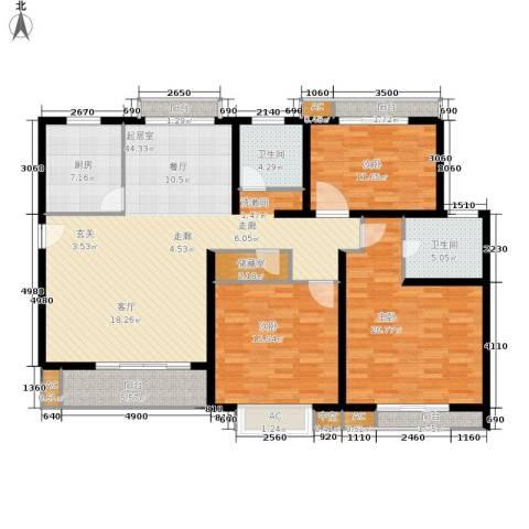 众众德尚世嘉3室0厅2卫1厨142.87㎡户型图