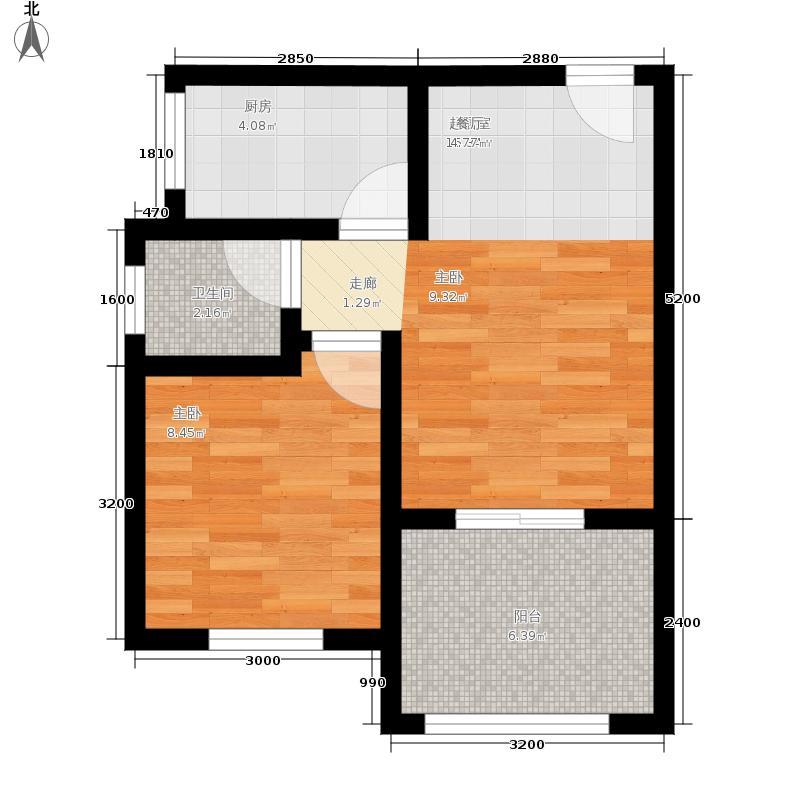 天岛湖39.47㎡一期1-10号楼标准层A户型