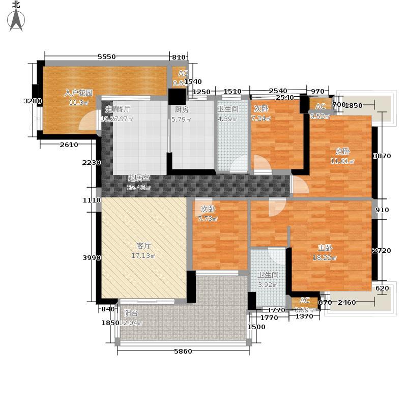 紫园152.23㎡15幢02单位户型