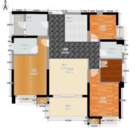 紫园4室0厅2卫1厨132.00㎡户型图