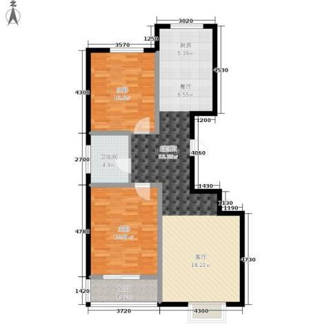 天润国际城2室0厅1卫0厨93.00㎡户型图