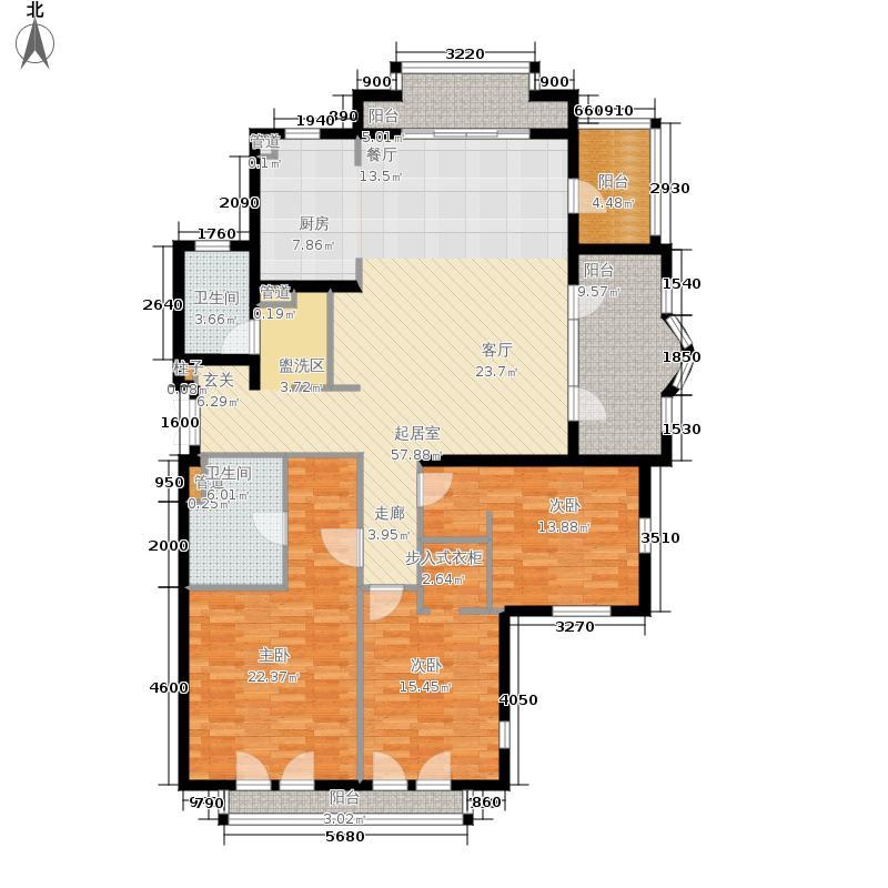 翡翠城150.00㎡法式公寓B户型3室2厅