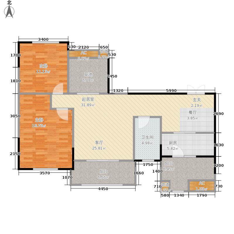 紫荆城103.00㎡21号楼标准层B2户型