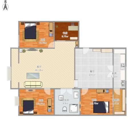 东方新村4室2厅1卫1厨177.00㎡户型图