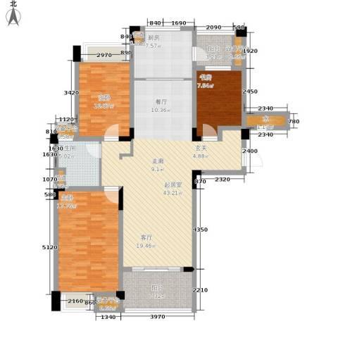 南通碧桂园3室0厅1卫1厨122.00㎡户型图