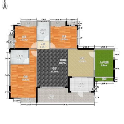 奥园康城B区3室0厅2卫1厨163.00㎡户型图