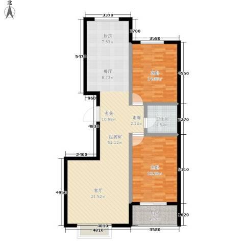 唐县丽景花园2室0厅1卫0厨102.00㎡户型图