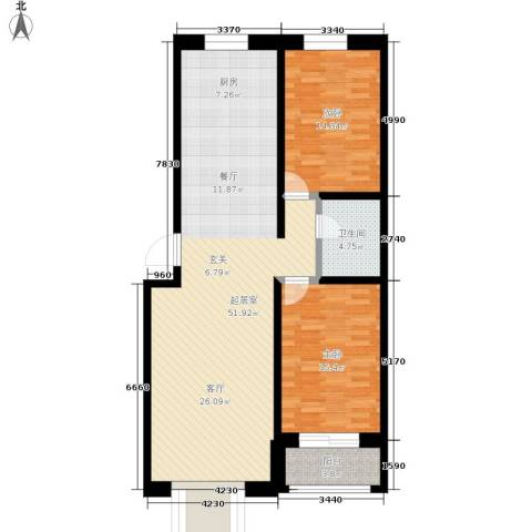 唐县丽景花园2室0厅1卫0厨104.00㎡户型图