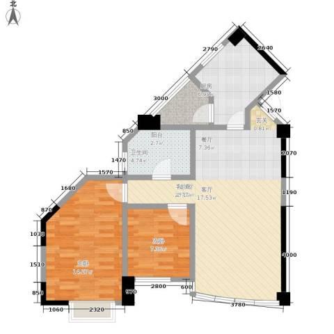 利得尔大厦2室1厅1卫1厨93.00㎡户型图