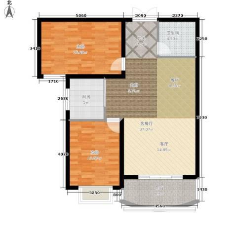 崇城国际2室1厅1卫1厨90.00㎡户型图