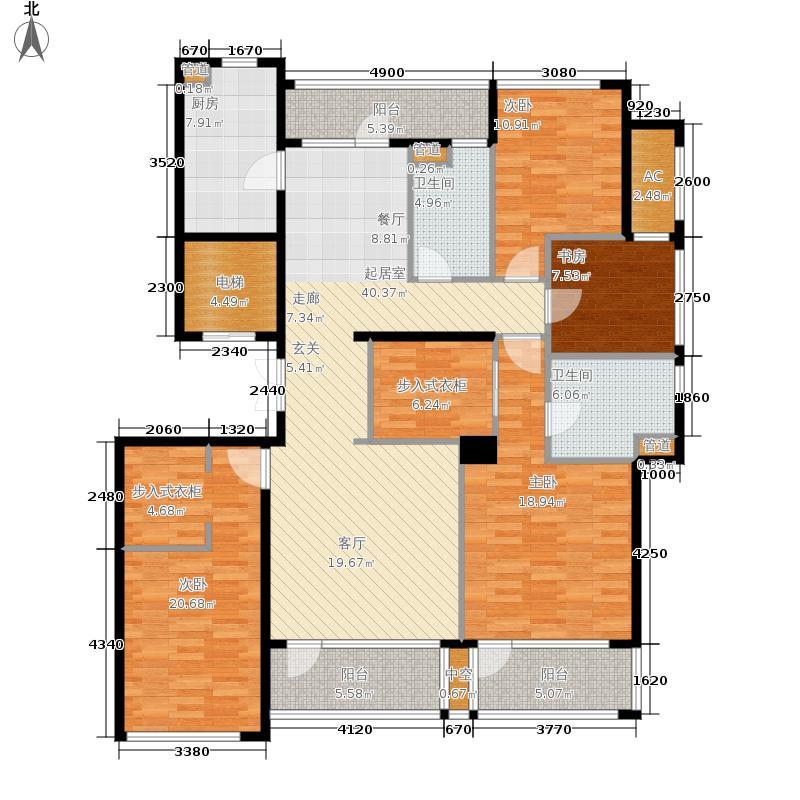 翡翠城174.00㎡西泠苑1、5#楼G户型4室2厅