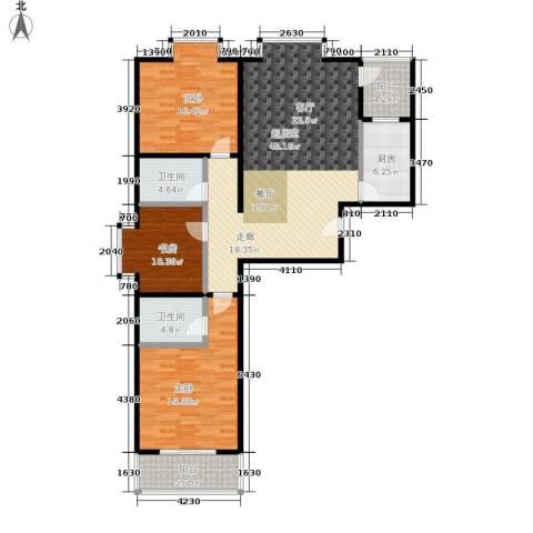 水韵江南3室0厅2卫1厨131.00㎡户型图