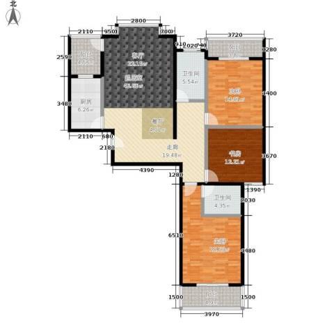 水韵江南3室0厅2卫1厨135.00㎡户型图