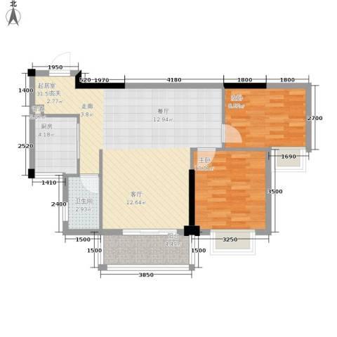中旗哈佛中心2室0厅1卫1厨84.00㎡户型图