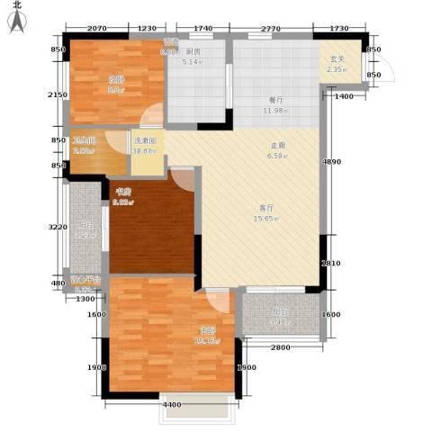 中旗哈佛中心3室0厅1卫1厨110.00㎡户型图