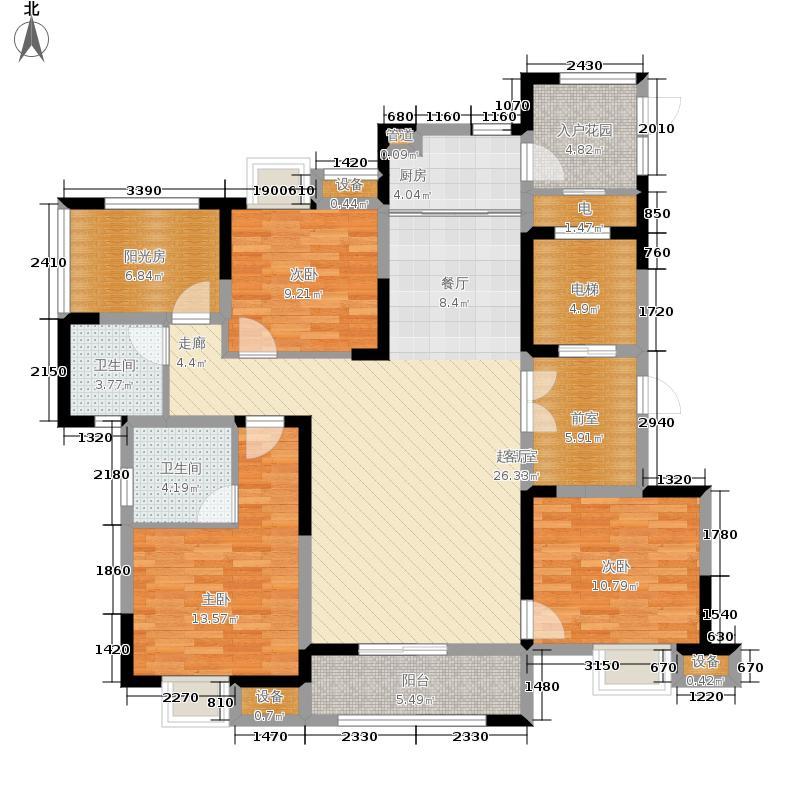 尚湖熙园135.00㎡8、9#楼A1户型4室2厅