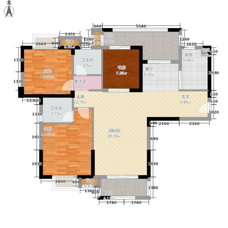 尚湖熙园113.00㎡7、10#楼A3户型3室2厅